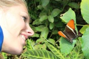 Geradezu verzaubert ist Martina Hirschmeier von der Entwicklung einer Raupe bis zum Schmetterling.