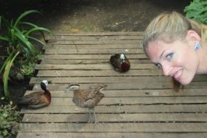 Beim Anblick der Enten in Kolumbien werden bei Martina Hirschmeier Kindheitserinnerungen wach.