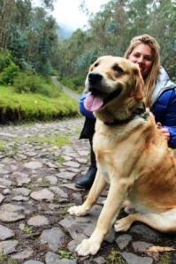 Tief durchatmen: Der Spaziergang mit dem Hund eines Freundes auf fast 3.000 Metern hat Frau Schlaumeier ganz schön geschlaucht.