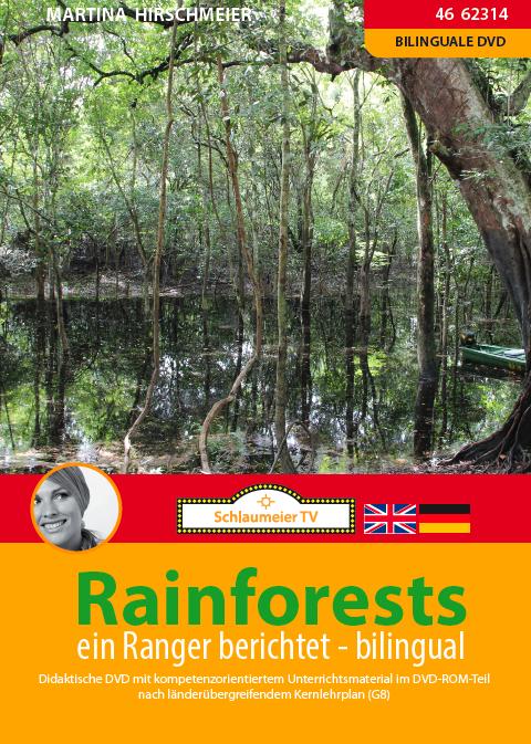 Rainforests. Eine bilinguale DVD für alle, die den Regenwald Australiens einmal mit einem Ranger besuchen möchten. Geeignet für bilinguale Klassen Geographie, Biologie und Englisch.
