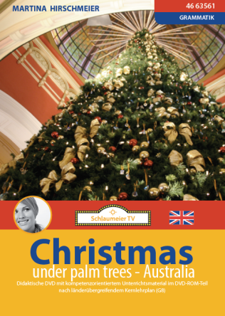 Christmas under palm trees. Grammatikeinheit am Beispiel von Weihnachten in Australien. Simple present, going-to-future, Traditionen und Food Vocabulary. Hier geht es direkt zum Film: https://schlaumeiertv.de/filme/christmas-australia/ und hier zum Download: https://schlaumeiertv.de/downloads/christmas-download/